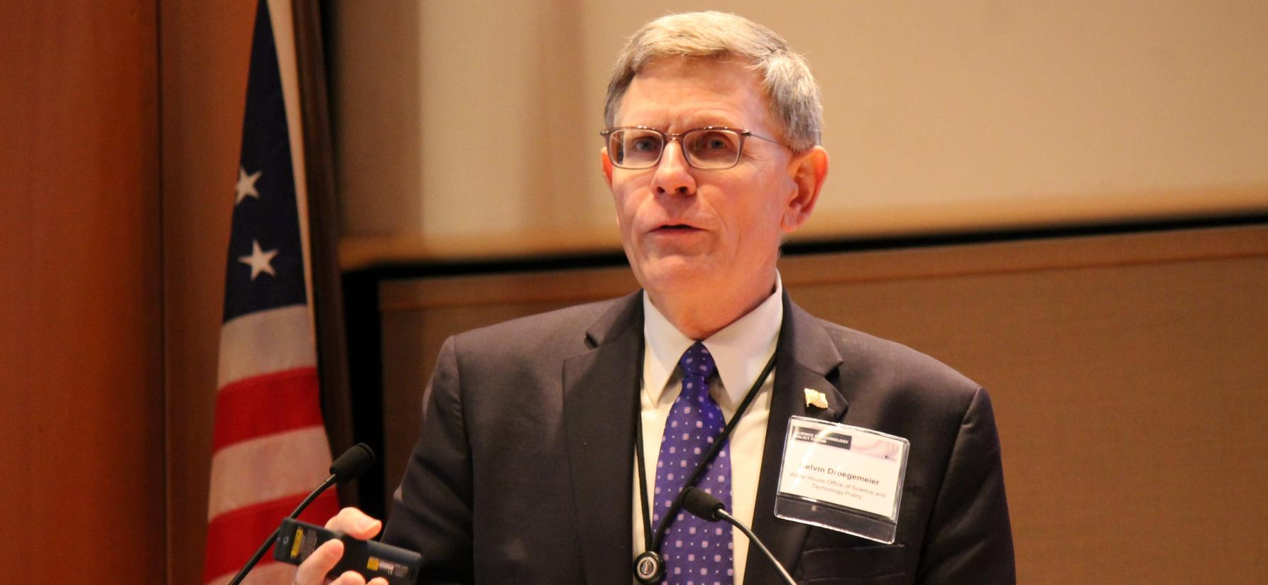 Office of Science and Technology Policy Director Kelvin Droegemeier at the AAAS Forum on S&T Policy. | Kat Song