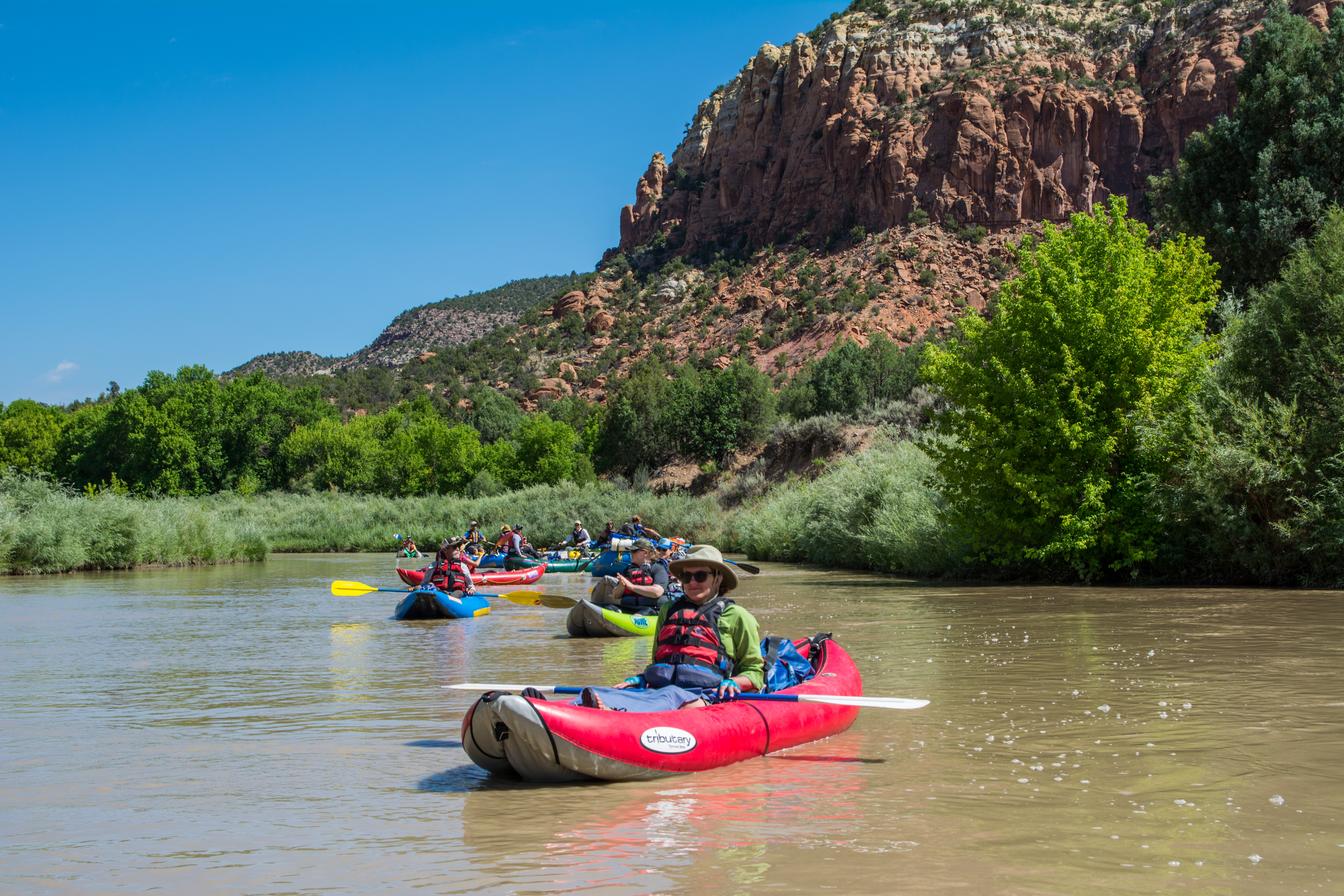Kirsten Neff takes to the water on the Rio Chama in New Mexico.