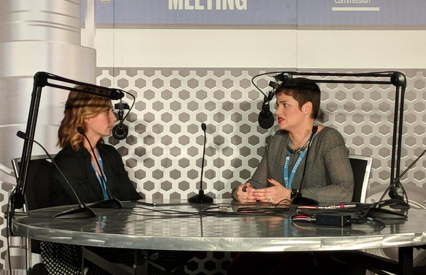 Allyson Kennedy and Monica Feliu-Mojer Podcast live at Annual Meeting