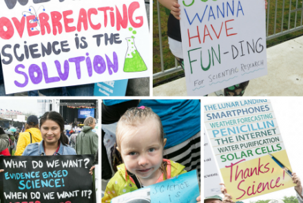 Signs from the March for Science