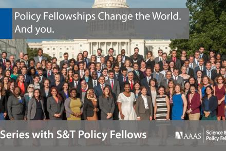 Chat Series: Q&A with S&T Policy Fellows