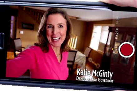 "McGinty's creative ""selfie"" campaign ad"